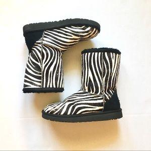 Zebra Genuine Sheepskin Uggs